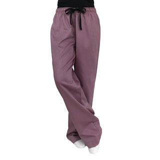 Cole Daniel Women's Red Polyester and Cotton Lounge Pants
