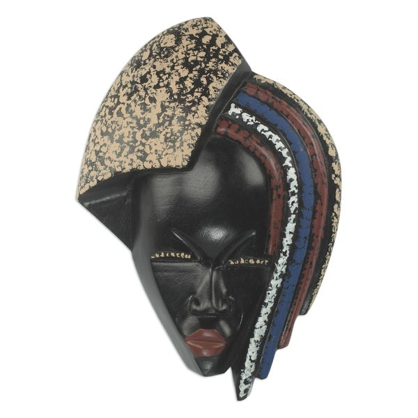 Handmade Kings Child Wood Mask (West Africa)