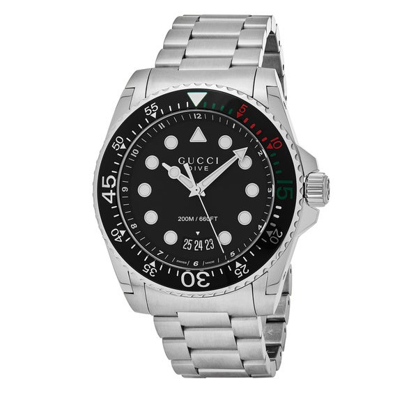 f5c4fdfd1c5 Shop Gucci Men s YA136208  Dive XL  Stainless Steel Watch - Free ...