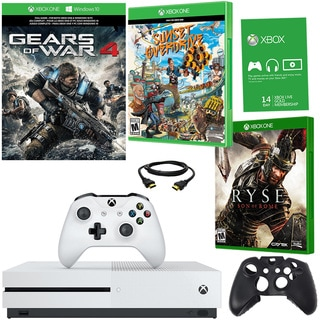 Xbox One S 1TB Gears of War 4 Bundle With Ryse and Accessories