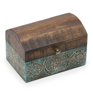 Antiqued Metal Chest