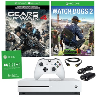 Xbox One S 1TB Gears Of War 4 Bundle With Watchdogs 2 and Accessories