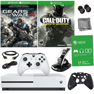 Xbox One S 1TB Gears of War 4 Bundle With COD: Infinite Warfare and Accessories