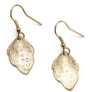 Gold New Leaf Earrings