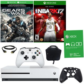 Xbox One S 1TBGB GOW 4 Bundle With NBA 2K17 and Accessories