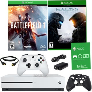 Xbox One S 500GB Battlefield 1 Bundle With Titanfall, Halo 5 and Accessories