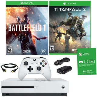 Xbox One S 500GB Battlefield 1 Bundle With Titanfall 2 and Accessories