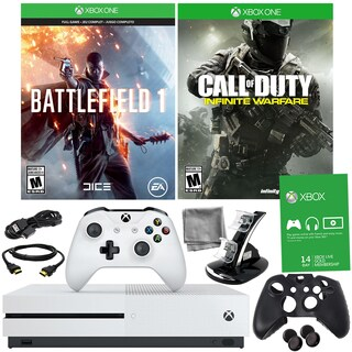 Xbox One S 500GB Battlefield 1 Bundle With COD: Infinite Warfare and Accessories