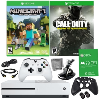 Xbox One S 500GB Minecraft Bundle With COD: Infinite Warfare and Accessories