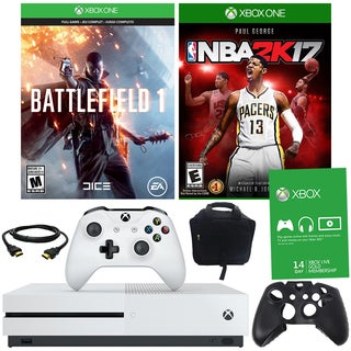 Xbox One S 500GB Battlefield 1 Bundle With NBA 2K17 and Accessories