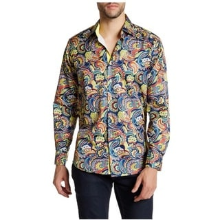 Suslo Couture Men's Etron Cotton Button-down Shirt