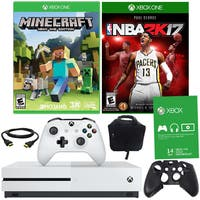 Xbox One S 500GB Minecraft Bundle With NBA 2K17 and Accessories