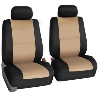 FH Group Beige Neoprene Water Resistant Bucket Seat Covers (Set of 2)