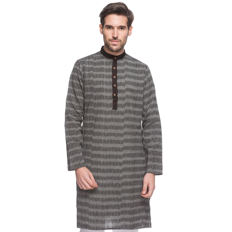 Handmade In-Sattva Men's Shatranj Indian Textured Stripe ...