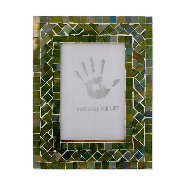 Magic Emerald Glass Mosaic 4x6 Photo Frame (India) - Free Shipping ...