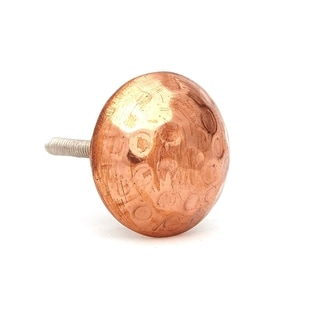 Hammered Copper Round Head Drawer/Door Knob Pulls (Pack of 6)