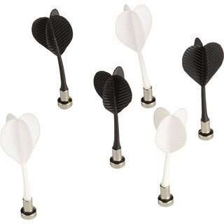 Voelkel Young Users Collection White/Black Metal Magnetic Darts