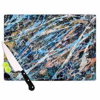 KESS InHouse Bruce Stanfield 'Cobalt One' Blue Abstract Cutting Board