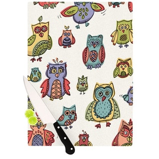 "Kess InHouse Brienne Jepkema ""Owls""  Cutting Board"