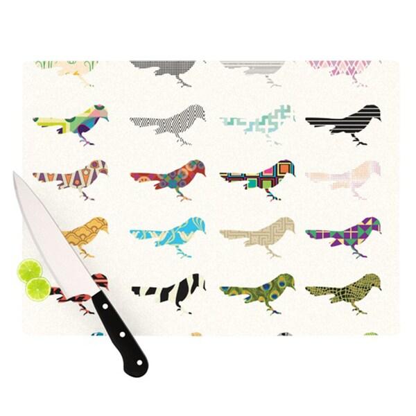 "Kess InHouse Belinda Gillies ""Birds"" Cutting Board"