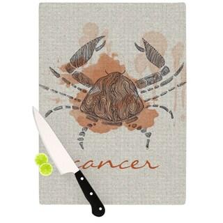"Kess InHouse Belinda Gillies ""Cancer"" Cutting Board"