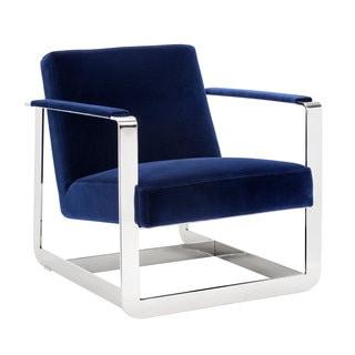 Sunpan Clevelander Giotto Navy Fabric Armchair