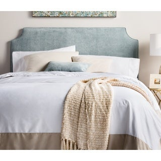 Humble + Haute Raleigh Queen Size Blue Velvet Upholstered Headboard