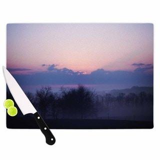 KESS InHouse Angie Turner 'Purple Sunrise' Blue Pink Cutting Board