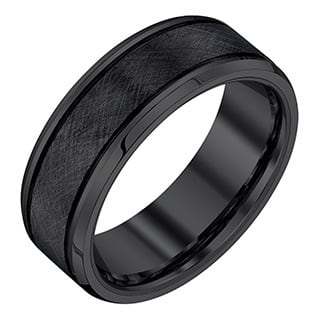 Black Tungsten Men S 8 Mm Textured Band By Ever One
