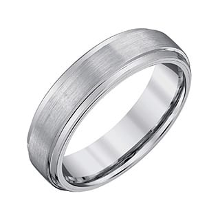 Men's Grey Tungsten Satin-polish Band by Ever One|https://ak1.ostkcdn.com/images/products/13153007/P19879798.jpg?impolicy=medium