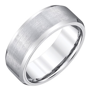 Men's White Tungsten Satin-finish Band by Ever One
