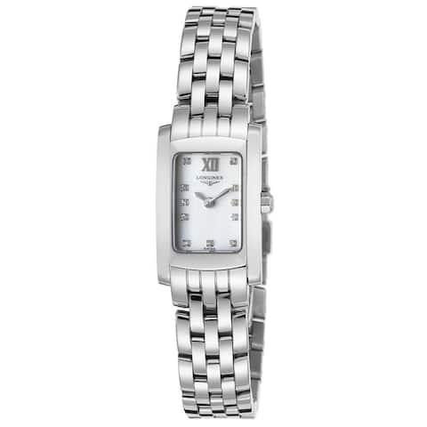 Longines Women's L51584846 'Dolce Vita' Diamond Stainless Steel Watch