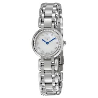 Longines Women's L81090876 'PrimaLuna' Diamond Stainless Steel Watch