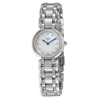 Longines Women's L81090876 'PrimaLuna' Diamond Stainless Steel Watch
