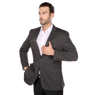 Verno Men's Brown Polyester/Viscose/Spandex Classic-fit Blazer