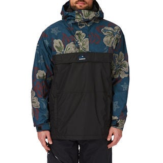 Quicksilver Men's Dry Flight Moroccan Blue and Black Polyester Jacket