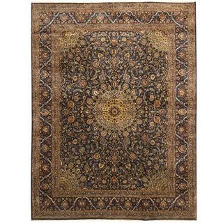 Herat Oriental Persian Hand-knotted Tribal Kashan Wool Rug (9'8 x 12'8)