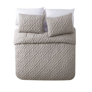 Porch & Den Welton 3-piece Embossed Reversible Down Alternative Comforter Set
