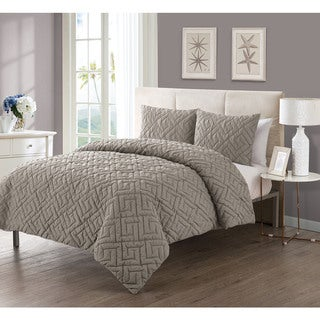 VCNY Artemis 3-piece Embossed Reversible Down Alternative Comforter Set