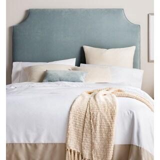 Humble + Haute Raleigh Tall Full Size Blue Velvet Upholstered Headboard