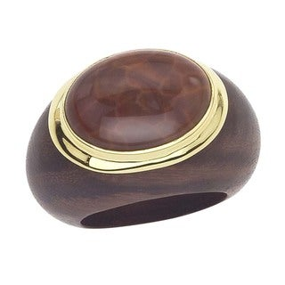 18k Vermeil Gold Fire Agate Ring