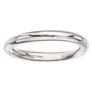 White Sterling Silver Women's Band Ring by Ever One