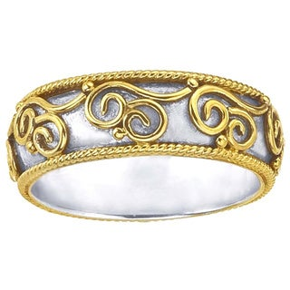 Sterling Silver and Gold Overlay Band by Ever One