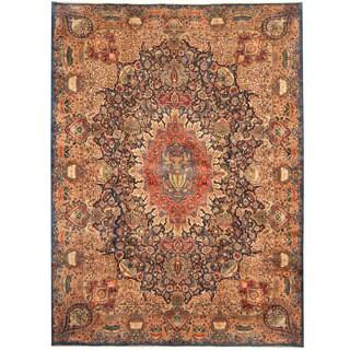 Herat Oriental Persian Hand-knotted Tribal Kashmar Wool Rug (9'9 x 13'1) - 9'9 x 13'1