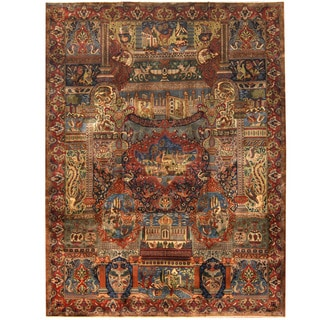 Herat Oriental Persian Hand-knotted Tribal Kashmar Wool Rug (9'7 x 12'8)