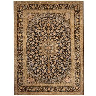 Herat Oriental Persian Hand-knotted Tribal Kashan Wool Rug (10'7 x 14')