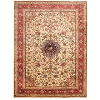 Herat Oriental Persian Hand-knotted Tabriz Wool Rug (9'8 x 12'6)
