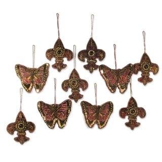 Set of 10 Rejoice Beaded Ornaments (India)
