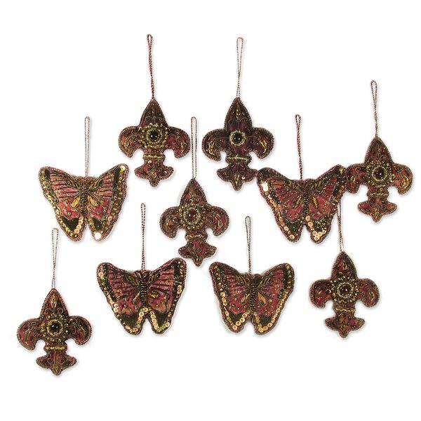 Set of 10 Rejoice Beaded Ornaments (India)