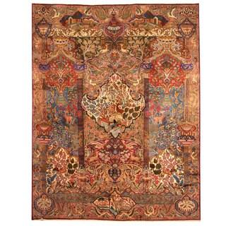 Herat Oriental Persian Hand-knotted Tribal Kashmar Wool Rug (9'9 x 12'9)